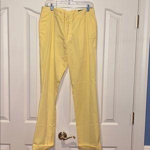 Vineyard Vines Yellow Khaki Pants, Sz: 32 / 34